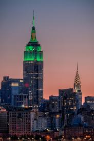 Empire State Building lit up in green for St Patrick s Day New