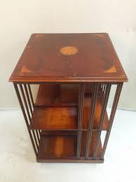 rotating wooden bookcase book shelf table 185 buy eclectic