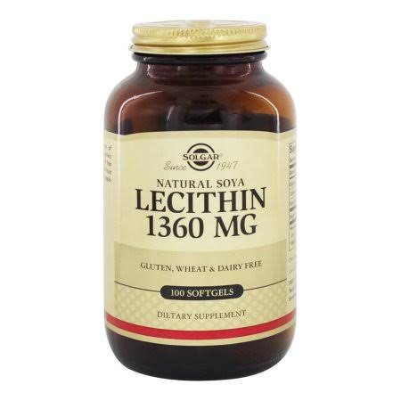 Solgar Lecithin Capsules - 100 Softgels
