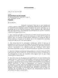 Carta Notarial Lopez Espinoza