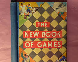Vintage 1930 THE New Book Of Games Football Test Match Air Race Ludo Snakes Ladders