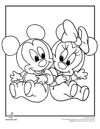 Classy Coloring Page Baby Disney Babies Pages