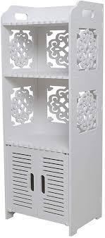 hollylife badezimmerschrank mdf weiß 3 in 1 für badezimmer 80 x 30 x 22 cm aufbewahrungsmöbel wasserdicht kabinett regal badezimmer für