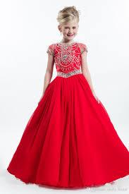 cute 2016 pageant dresses girls short sleeve beading crystal jewel