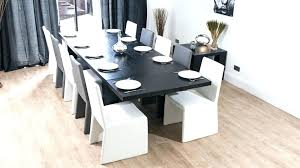 Dining Room Table Seats 14 Large Contemporary Black And White Extending
