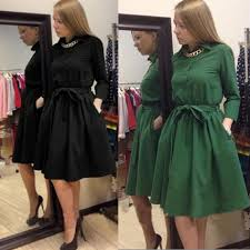 2015 European And American Style Latest Fashion Trends For Women Long Sleeved Dress Girl Doll Collar Leisure Wild Tutu In Dresses From Womens Clothing