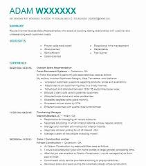 Top Outside Sales Resume