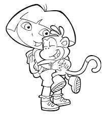 Dora The Explorer Coloring Pages 13printablecoloring