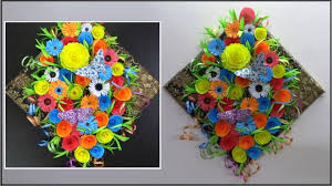Once All The DIY Paper Flowers Are Ready Of Them Assembled On A Base Covered With Designer To Make Most Beautiful Handmade Wall Decor