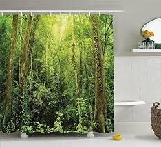 rainforest dekorationen duschvorhang set tropischen
