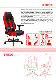 Neutral Posture Chair Instructions by Amazon Com Dxracer Boss Series Big And Tall Chair Doh Bf120 Nr