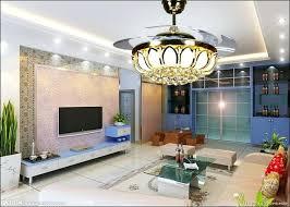 Dining Room Ceiling Fan Led Crystal Light Lamp Deluxe Lights Living