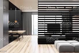 moderne grau und holz esszimmer stockfoto und mehr bilder architektur