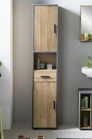 badezimmer hochschrank mit 2 türen schublade badmöbel