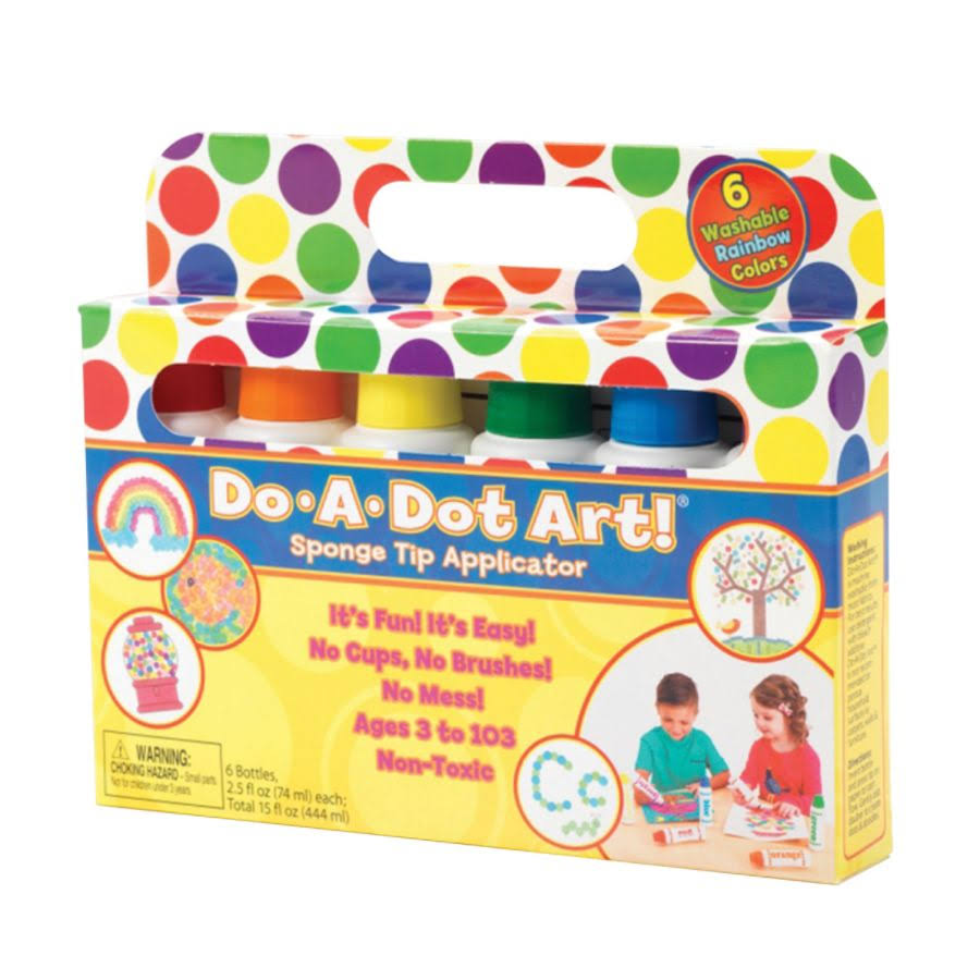 Do a Dot Art Washable Rainbow Markers - 6 Pack