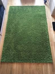 ikea hen teppich langflor grün