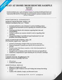 Work Examples SAHM Stay At Home Mom Resume Sample 17 Surprising Design Writing Tips Companion