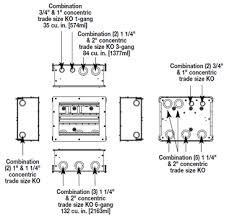 Legrand Floor Boxes Rfb4 rfb11 a v four compartment eleven gang floor box rfb11 legrand