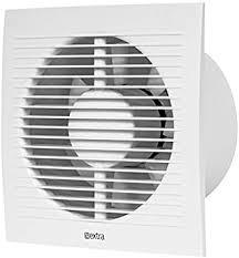 ø 150mm bad lüfter mit feuchtesensor und timer weiß leise ventilator