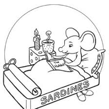 Mice Reading Books Coloring Pages For Kids DDB Printable