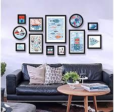 photo wall frame moderno minimalistische wohnzimmer sofa