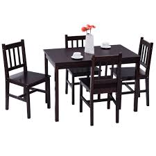 Amazon.com - Giantex 5 Piece Wood Dining Table Set 4 Chairs Home ... 4 Chair Kitchen Table Set Ding Room Cheap And Ikayaa Us Stock 5pcs Metal Dning Tables Sets Buy Amazoncom Colibrox5 Piece Glass And Chairs Caprice Walkers Fniture 5 Julia At Gardnerwhite Pc Setding Wood Brown Ikayaa Modern 5pcs Frame Padded Counter Height Ding Set Table Chairs Right On Time Design 4family Elegant Tall For Sensational