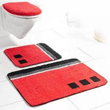 sensino badezimmer garnitur für hänge wc 3 tlg rot olivera