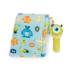 Monsters Inc Baby Bedding by Monsters Inc Mike Printed Blanket And Stick Rattle Set