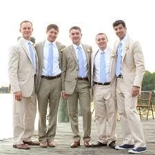 Beige Groomsmen Suits Spring Wedding Colors