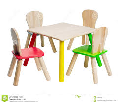 Wooden Table And Chairs Toys For Kid Stock Photo - Image Of ...