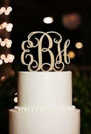 Monogram Cake Topper Initial Couple Name Custom Wedding Bridal Rustic Wood
