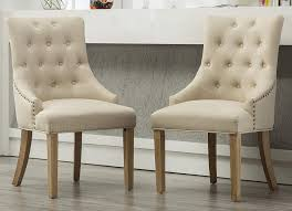 Roundhill Furniture C169TA Button Tufted Solid Wood Wingback Hostess Chairs  With Nail Heads, Set Of 2, Tan Chair Custom Upholstered Ding Chairs Awesome Tufted Safavieh Amanda Linen With Nail Heads Set Of 2 Back Faux Leather Light Brown Bonded Pu Accent Sensational Inspiration Ideas Nailhead Trim Julia Cream Head Roundhill Fniture C169cc Button Solid Wood Wingback Hostess Charcoal Broome Side W Nickel Of Mcr4716bset2 By With Perfect Fishing Fabric Room Home Design Ilbert