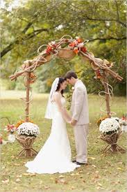 Rustic Outdoor Wedding Ceremony Alter Arch For Fall