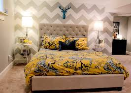 Yellow And White Chevron Curtains by Sublime Yellow And White Chevron Curtains Decorating Ideas Images
