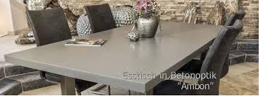 der tischonkel esstische aus beton betonoptik