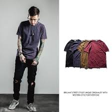 Summer 2018 Solid Vintage T Shirt Hip Hop Casual Mens Top Tees Tshirt Short Sleeve Streetwear Kanye West Clothing M Xxl Retro Design Tee