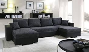 canapé d angle en cuir convertible canapé d angle convertible panoramique 5 à 6 places enno tissu et