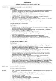 Generalist, Human Resources Resume Samples | Velvet Jobs