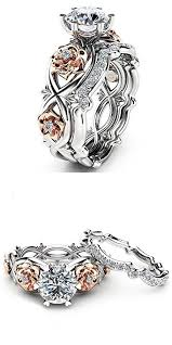 Promise Ring for Her Engagement Ring Wedding Bands Bridal Set for