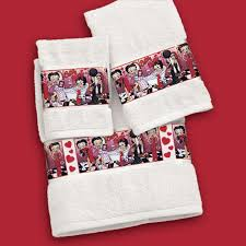 betty boop spa towel collection the danbury mint