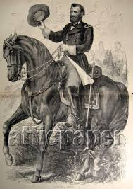 Civil War Art Print Ulysses S Grant On Horse