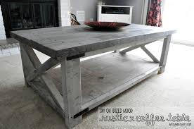 Rustic X Coffee Table DIY