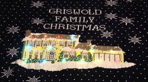 Diy Christmas Story Leg Lamp Sweater by Griswold Family Christmas Light Up Ugly Sweater Youtube