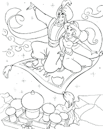 Jasmine Name Coloring Pages Online Flying Carpet Princess Baby