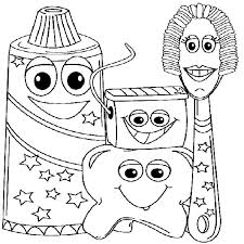 Example Picture Of Dental Health Coloring Page