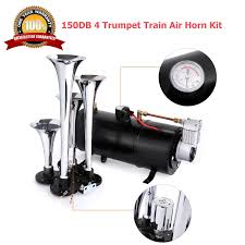 Voluker 4 Trumpet Train Air Horn Kit,150dB Loud Train Air Compressor ... Voluker 4 Trumpet Train Air Horn Kit150db Loud Compressor Amazoncom Iglobalbuy Super 12v Dual 150db Truck Mega Single Kit W Dc 12v Emergency Fire Ftkit Horns Of Texas Mirkoo Twin Tone Chrome Plated Air Horn Kit Diesel Pinterest Trucks Chevy Car Boat 117 Wolo Mfg Corp Air Horns Horn Accsories Comprresors Pcwizecom Truhacks Triple Boss Suspension Shop Kits Model Hk2 Kleinn Mpc M1 Review Best Unbiased Reviews