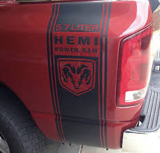 Truck Vinyl Decals Racing Dodge Ram Rear Bed Hemi Mopar Logo Both ... Predator 2 092014 Ford Fseries Raptor Style Rear Truck Bed Vinyl Sticker Decals Bed Stripes Dodge Ram 1500 Rt Mopar Destorder Us Flag Decals Tail Sticker American Kit Compatible Product Stripe Fits Vinyl Decal Remington Offroad Piece Left And Right Officially Licensed 4x4 Pair 09144x4 Mopar Solid For Ram 2500 Hemi 2017 2018 F150 Graphics T Freedom Edition Ar15 Trucks 082016 At Superb We Specialize In Custom Decalsgraphics 2015 2016 Chevy Colorado Pickup Stickers Superbee