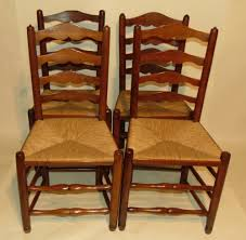 Set 4 Ladder Back Rush Seat Chairs, Circa 1800 | 650575 ... 6 Ladder Back Chairs In Great Boughton For 9000 Sale Birch Ladder Back Rush Seated Rocking Chair Antiques Atlas Childs Highchair Ladderback Childs Highchair Machine Age New Englands Largest Selection Of Mid20th French Country Style Seat Side By Hickory Amina Arm Weathered Oak Lot 67 Set Of Eight Lancashire Ladderback Chairs Jonathan Charles Ding Room Dark With Qj494218sctdo Walter E Smithe Fniture Design A 19th Century Walnut High Chair With A Stickley Rush Weave Cape Ann Vintage Green Painted