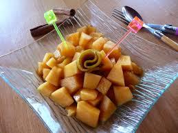 paruline en cuisine melon mariné au xérès ou les tapas version bien frais au fil