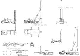 100 Truck Well Mounted Drilling DWG Free CAD Blocks Download